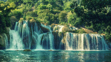 Waterfalls at Krka Park in Croatia
