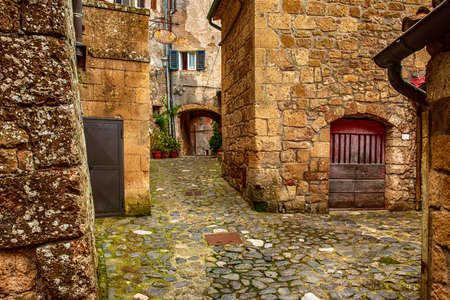 Sorano city street