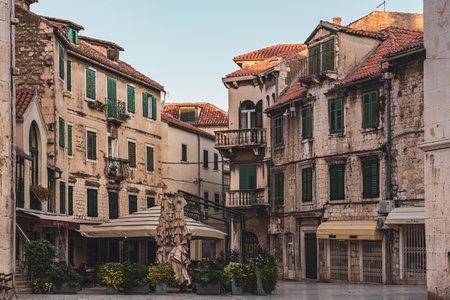 Fruit square in Split, Croatia