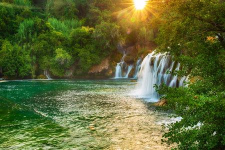 Waterfalls at Krka Stok Fotoğraf - 161113161