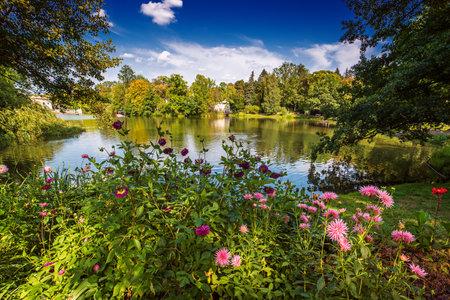 Lazienki Park in Warsaw Stok Fotoğraf - 161113162