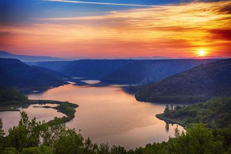Sunrise at Krka river