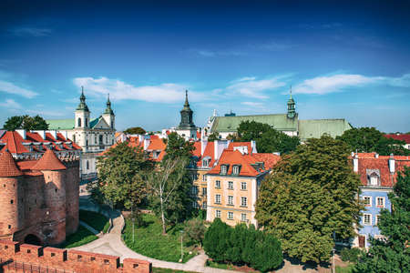 Barbacan in Warsaw Stok Fotoğraf