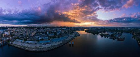 Sunset over Dnipro Stok Fotoğraf - 160747198