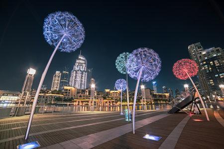 Dubai flower lanterns Stok Fotoğraf - 160747201