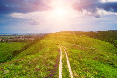 Rural summer landscape Stok Fotoğraf - 160747205