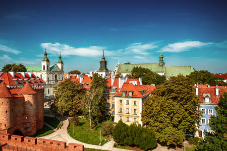Barbacan in Warsaw 스톡 콘텐츠