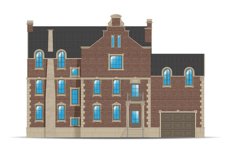 brownstone: abstract brick building in holland style