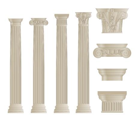 Un ensemble de colonnes Banque d'images - 21260700