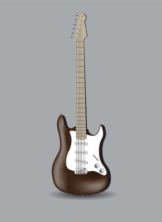 vector illustration of abstract electro guitar on grey background illustration