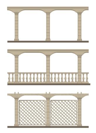 Calado de dise?o para decorar los senderos del jard?n y un soporte para plantas trepadoras. Vector ilustraci?n. Foto de archivo - 21253236