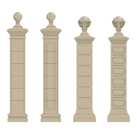 Set of gate pillars,