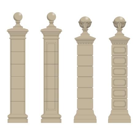 hellenistic: Set of gate pillars,