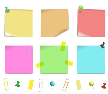 sticky note paper isolated on white background, illustration