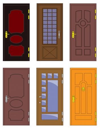 wooden doors: Interior cl�sico y puertas delanteras de madera