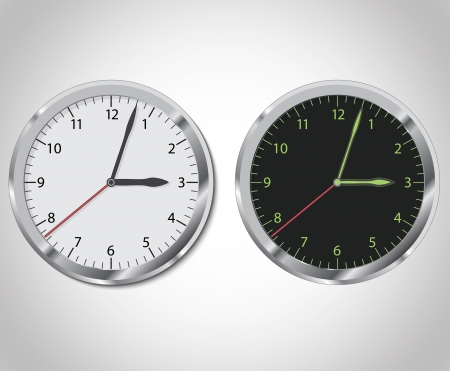 Clock day and night set Vector