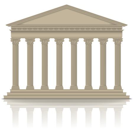Panteón romano / griego con columnas corintias, de alta detallada Foto de archivo - 24246672