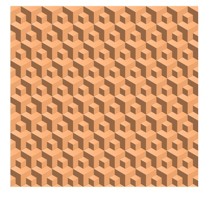abstract seamless backgroynd. 3d cubes pattern isometric vector Vector