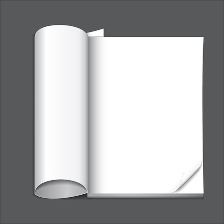 blank magazine page, ready for your design Stock Vector - 25999210