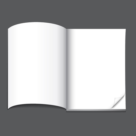open blank magazine page, ready for your design Stock Vector - 26000768