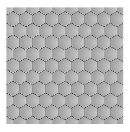 slate roof: vector seamless texture of the grey clay hex tile
