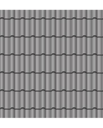 図屋根灰色のタイルのシームレスな背景をベクトルします。
