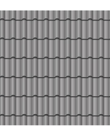 roof line: vector illustration roof grey tile seamless background Illustration
