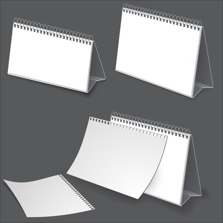 Desk calendar. Illustration on dark for design Vector