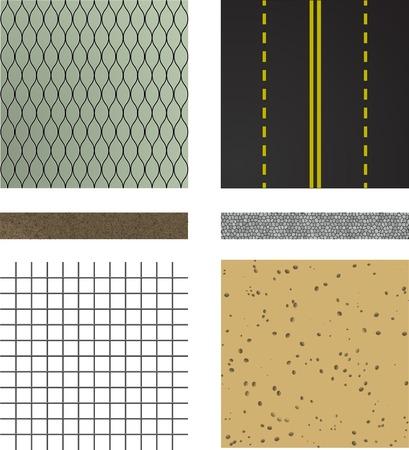 rock layer: set of asphalt road textures Pavement layers  Vector illustration Illustration