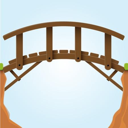 Vector illustration  Bridge  Illustration
