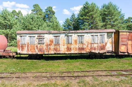 bogie: An abandoned train s bogie Stock Photo