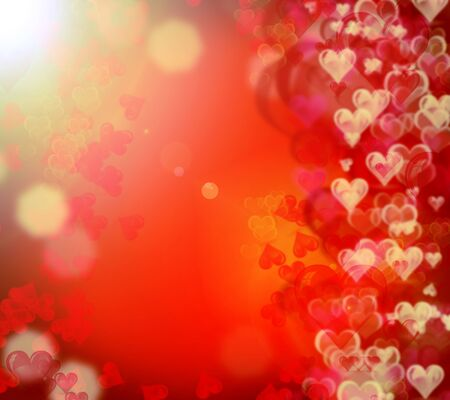 shiny hearts: Different shiny hearts bokeh Valentines day background
