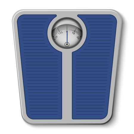 bathroom weight scale: Bathroom weight scale on white background. Illustration