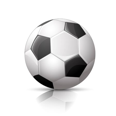 evening ball: Detailed Soccer ball, football icon, Isolated on White Background