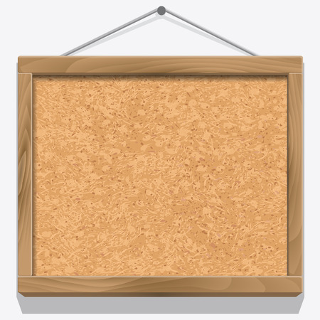 corkboard: Cork board with wooden frame isolated on white