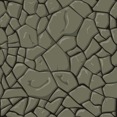 paving tiles: Brown stone seamless background. Vector illustration game texture Illustration