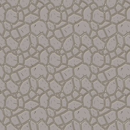 Brown stone seamless background. Vector illustration  game texture