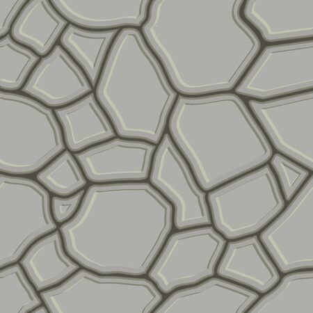 cobblestone street: Brown stone seamless background. Vector illustration  game texture