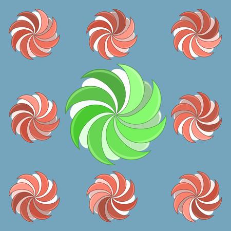 preloader: Round preloader animation frame, buffer shape, circular progress indicator