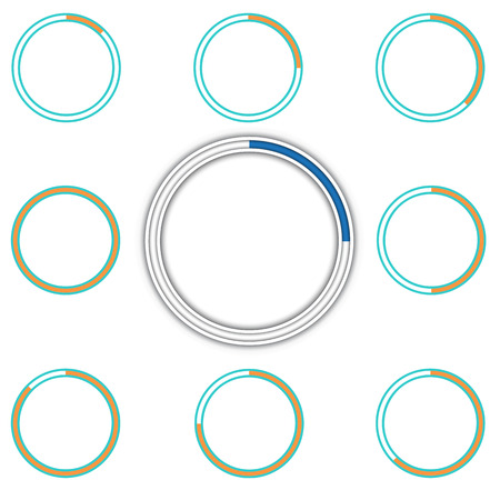 preloader: Round preloader animation frame, buffer shape, circular progress indicator