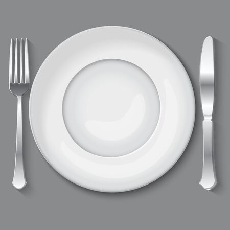 illustration of empty white plate