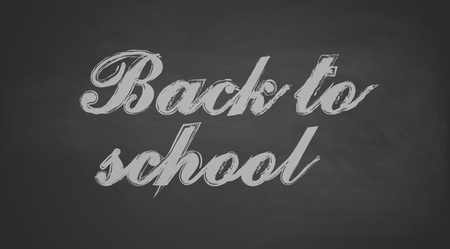 juniors: Back to School Chalkboard Background, Vector Illustration Illustration