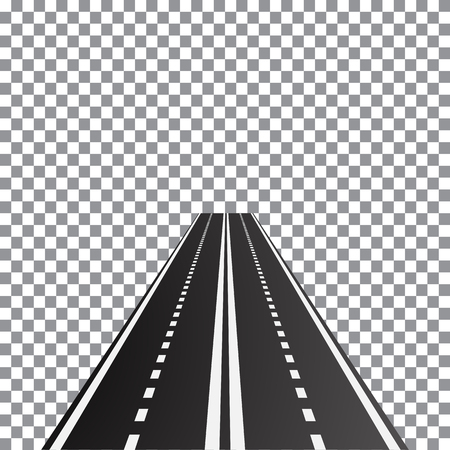 Vector illustration of road with transparency background