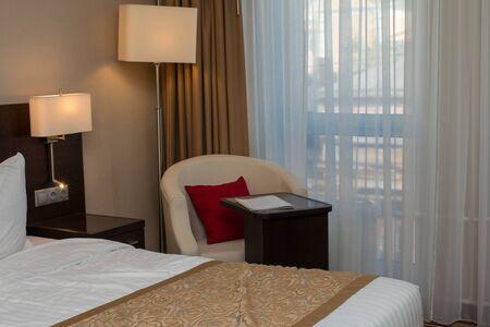 luxury hotel room: luxury modern hotel room interior with furnishing
