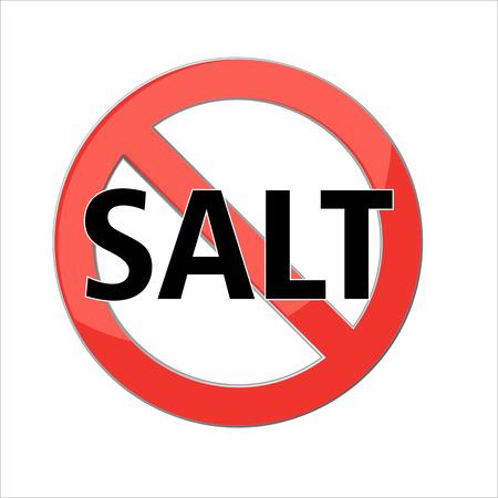 geen zout teken Red verbod ondertekenen. Stop-symbool. Vector