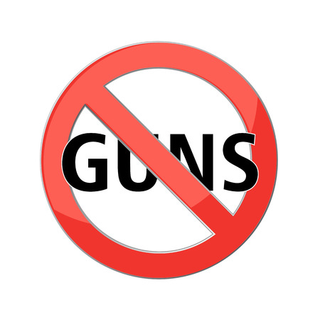 no guns sign Red prohibition sign. Stop symbol. Vector