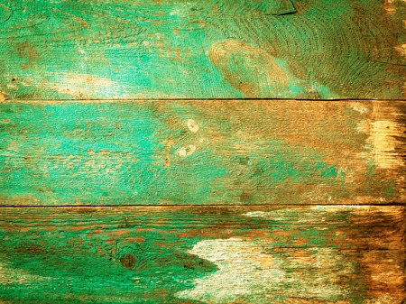 old wooden texture with a shabby blue paint front Stock Photo