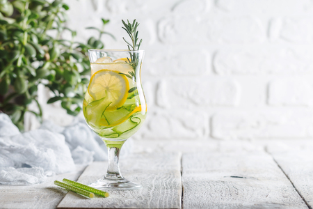 infused: detox water with lemon and cucumber