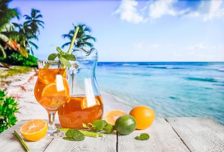 Glass of summer ice tea