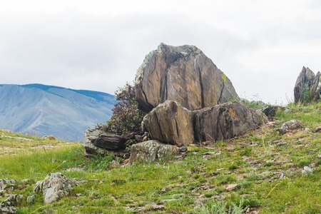 Windstorm over Baikal lake